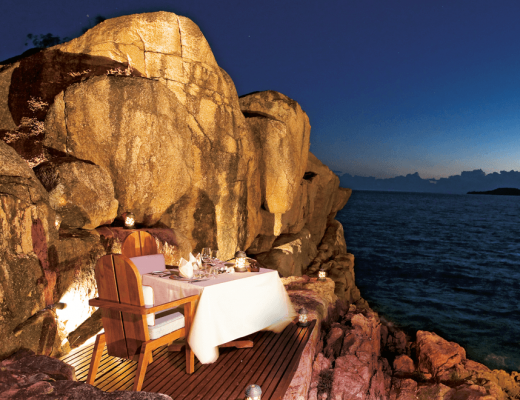 dinner on the rock