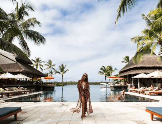 Fashion Model Kenza Zouiten in Mauritius