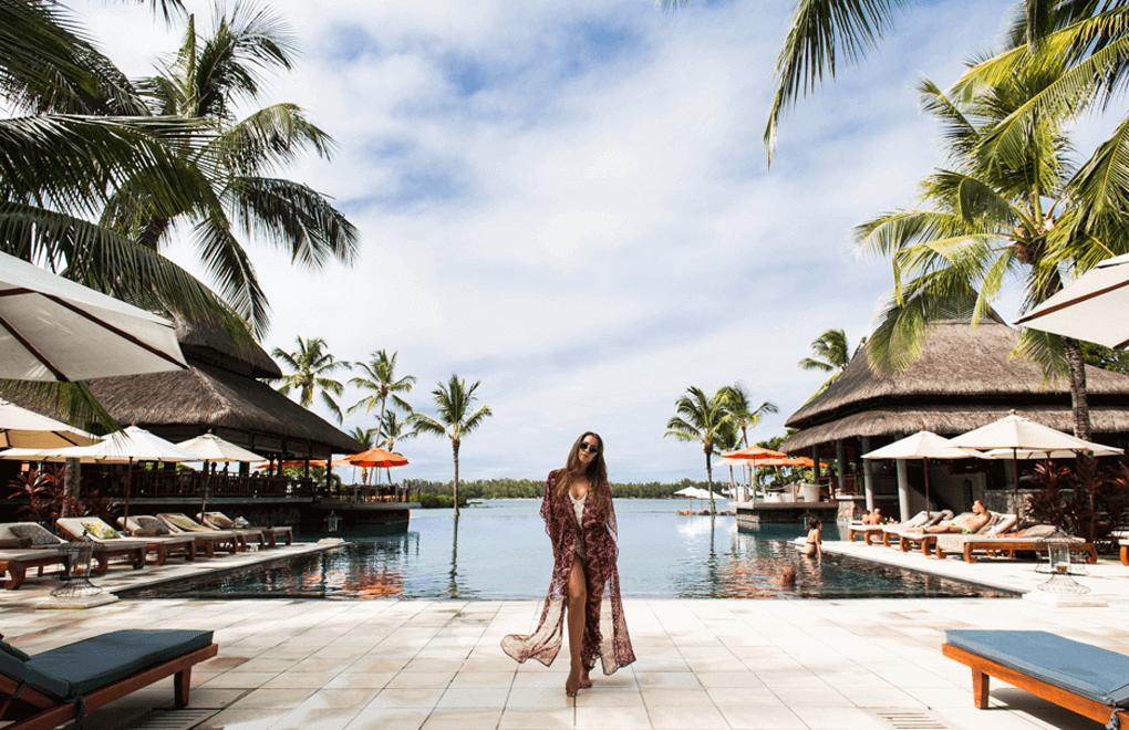 Fashion Model Kenza Zouiten in Mauritius