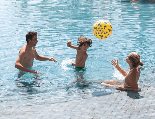 A family holidays at belle mare plage