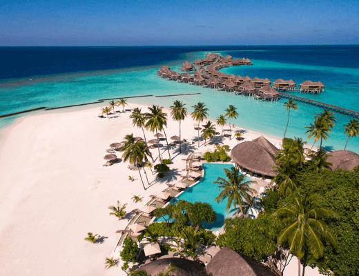 Aerial view of Constance Halaveli Maldives