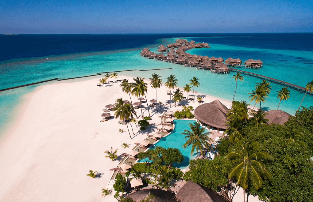 Aerial view of Constance Halaveli Maldives