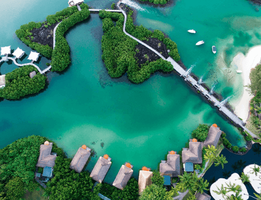An aerial view of Le Prince Maurice