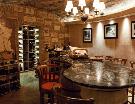 The wine cellar from Le Prince Maurice