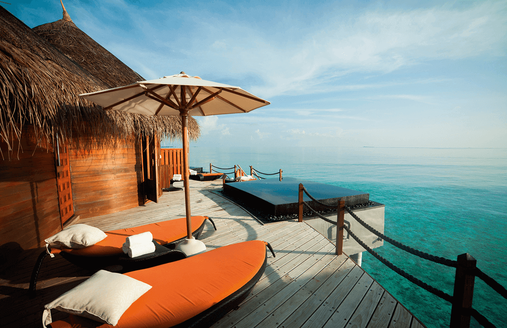 A view of the Halaveli Maldives Uspa