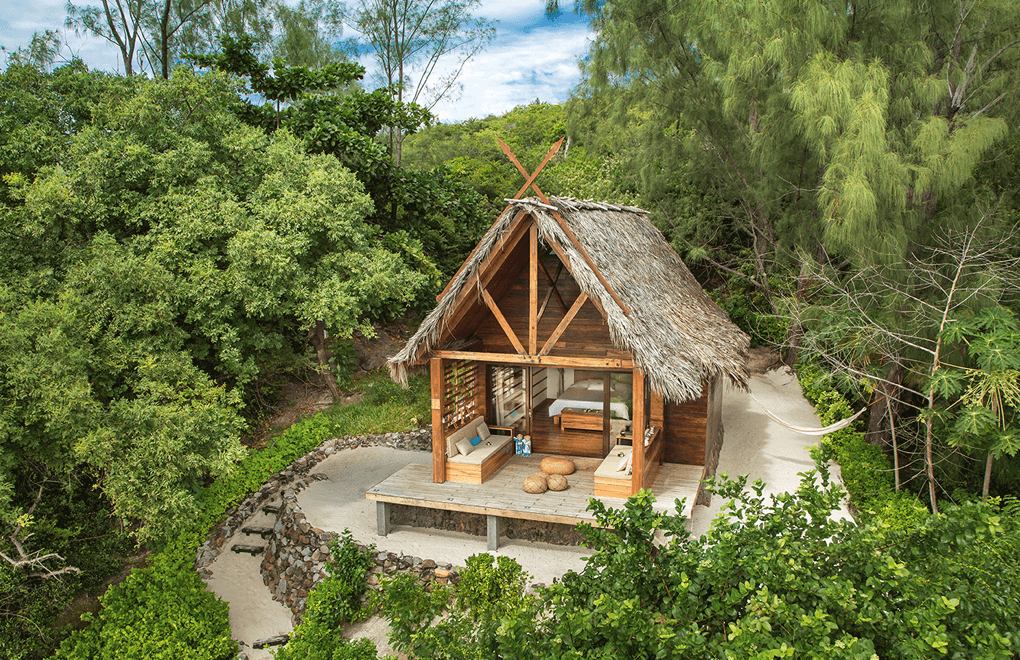 The beach villa, a perfect cocoon on the beach