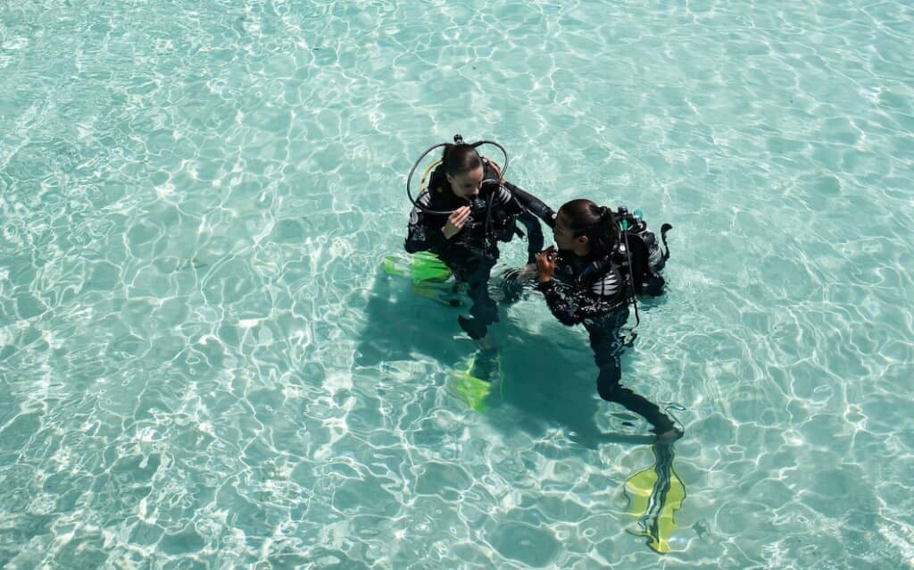 Scuba diving is a popular past time at Moofushi