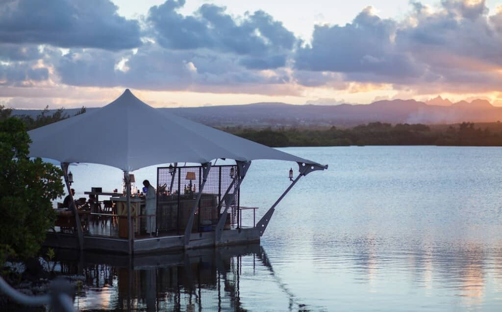 The Floating Bar at Le Prince Maurice offers a beautiful view to enjoy your drink to