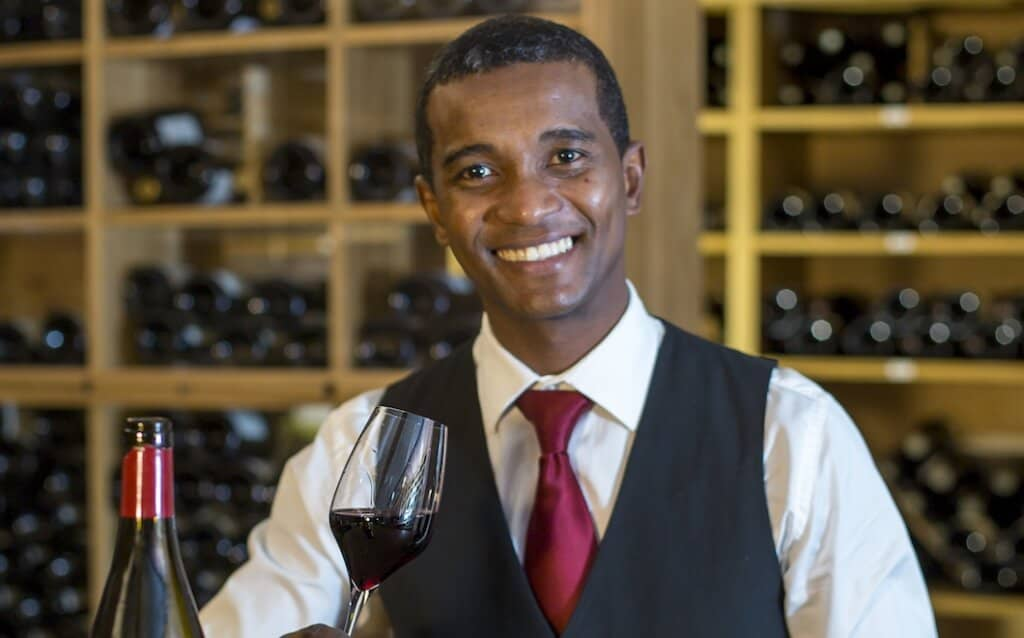 Jorald Julie, a sommelier at Constance Hotels and Resorts