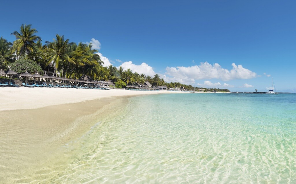 Constance Belle Mare Plage has a long stretch of beach on the East Coast of Mauritius