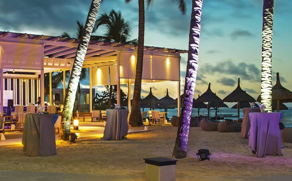 The Blu Bar at Constance Belle Mare Plage