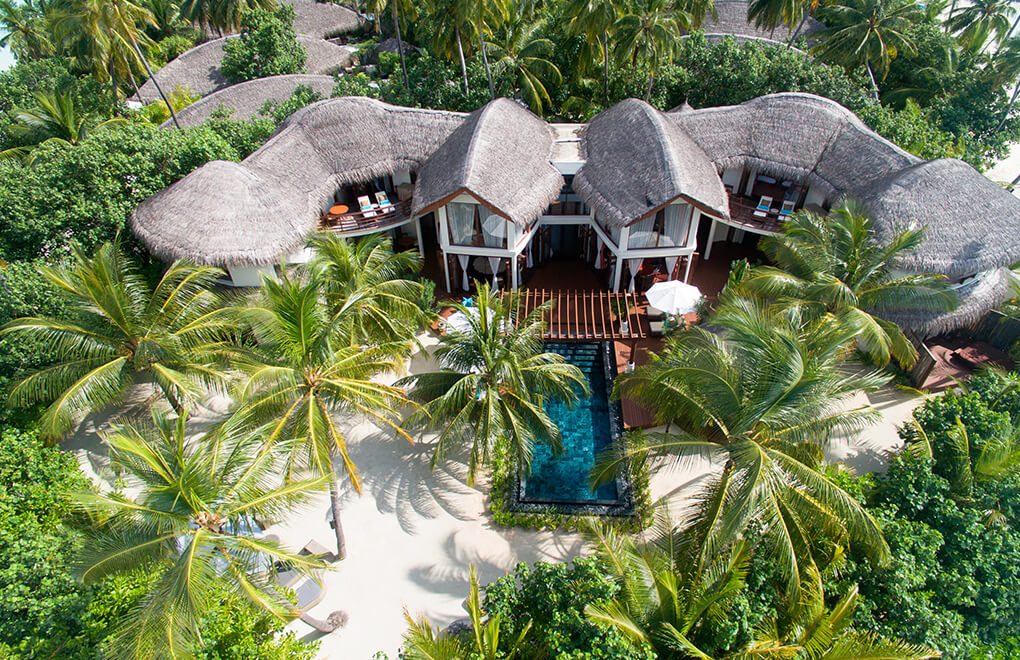 Indulge in the finer things in our double story villas at Constance Halaveli, Maldives