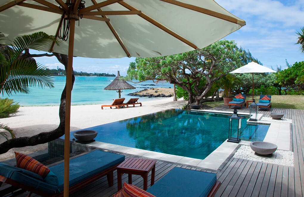 Beach views at the Princely Suite, Constance Le Prince Maurice Mauritius
