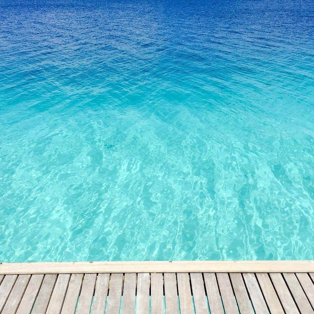 Find your shade of blue in the beautiful Maldives