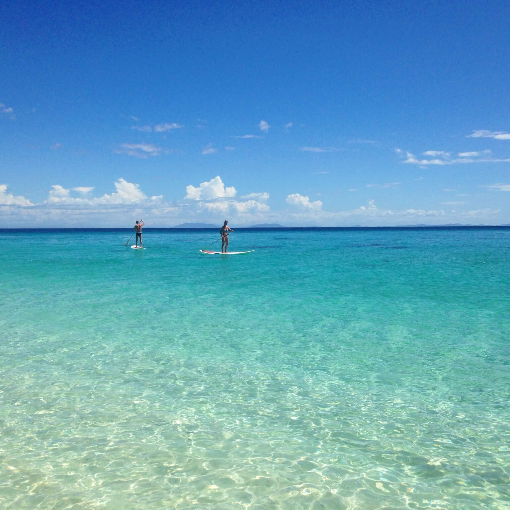 Paddle boarding at Constance Tsarabanjina Madagascar