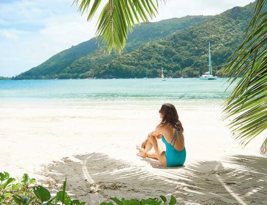 Ephelia Seychelles beach gazing