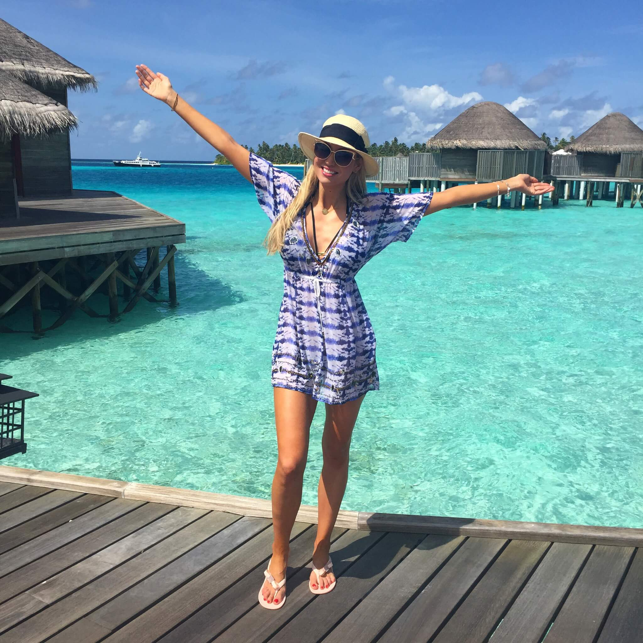 Rosanna Davison in the Maldives