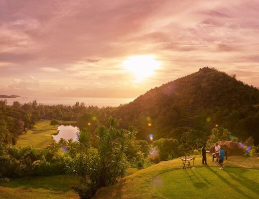 Sunset over Lemuria Golf Course