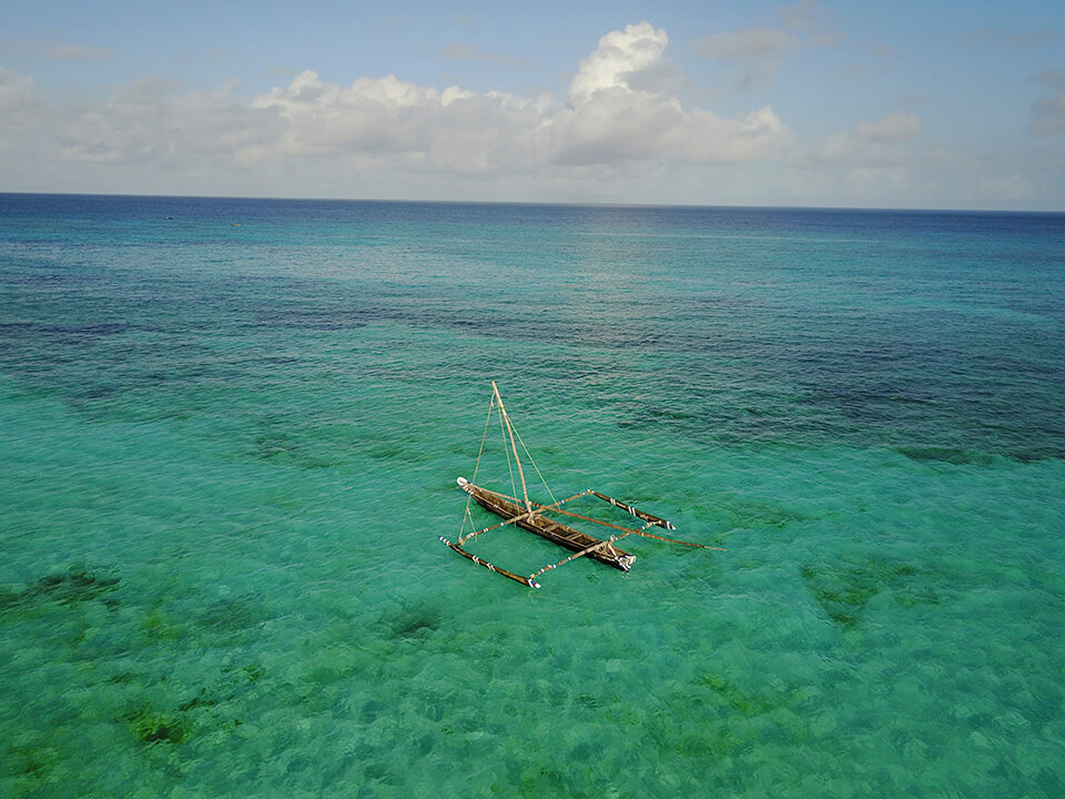 Turquoise Zanzibar seas
