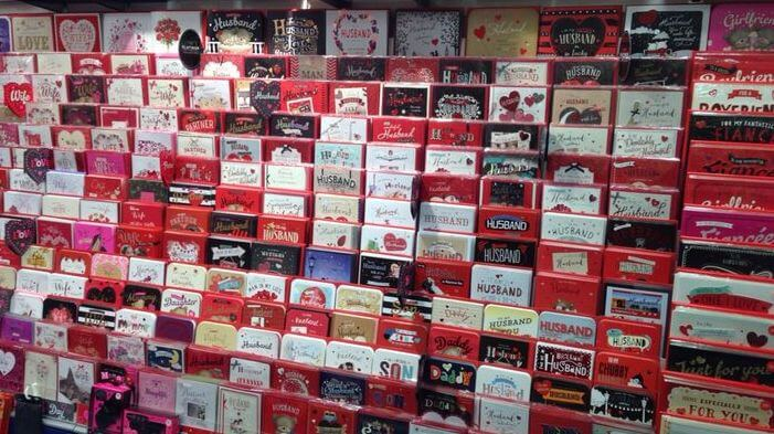 valentine cards in store