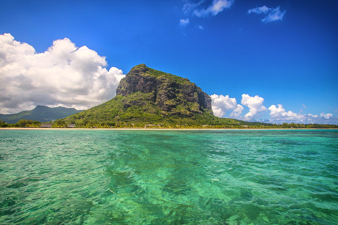 View of Le Morne from the water