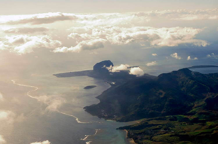 Le Morne Brabant aerial view