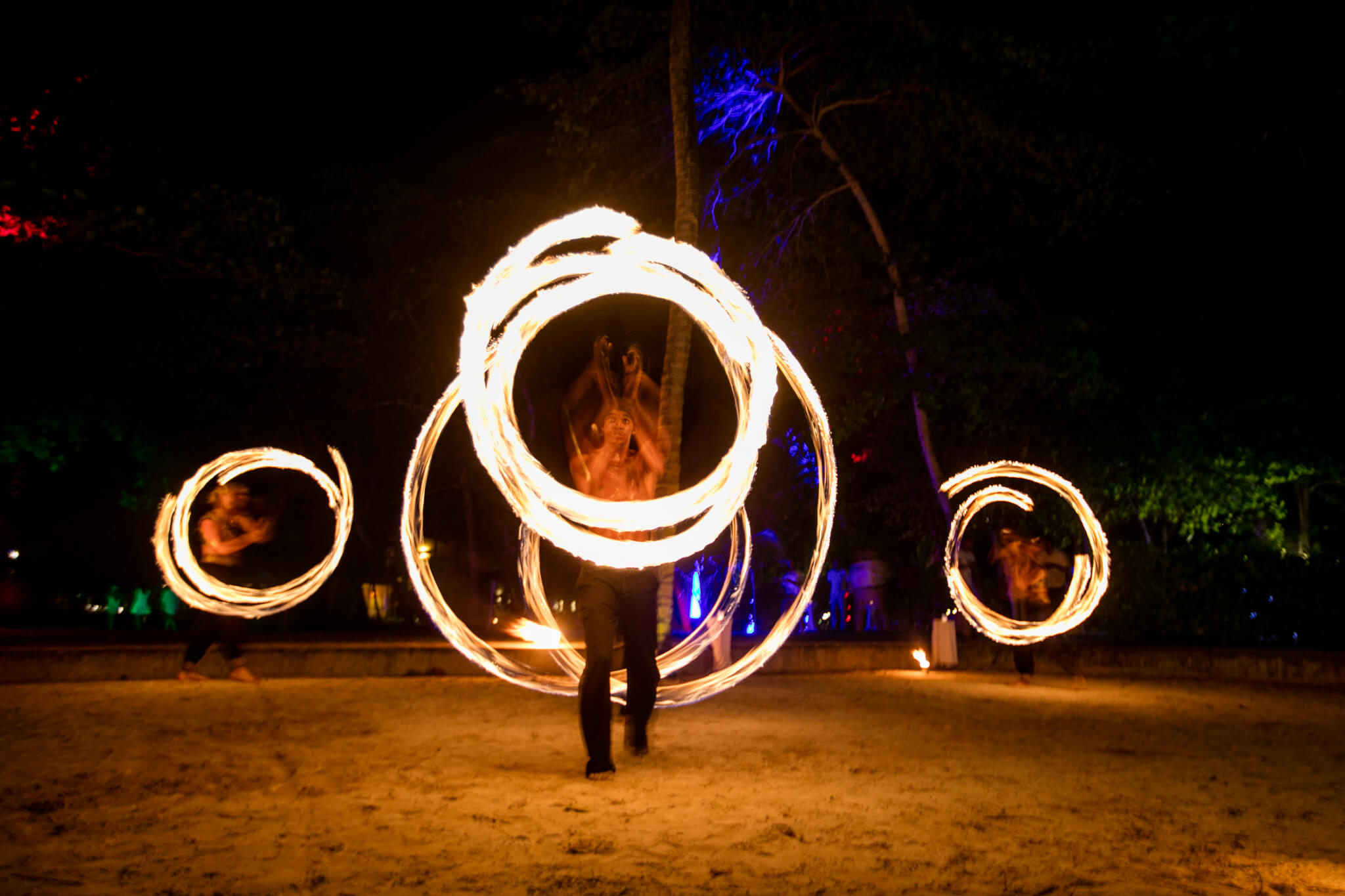 Spectacular fire show