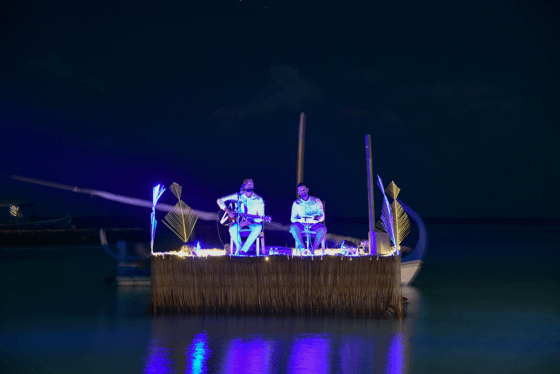 Floating performance at Constance Moofushi Maldives
