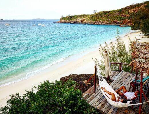 Madagascar beach hammock
