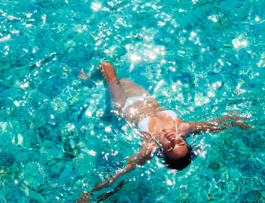 Floating in the water at Constance Halaveli Maldives