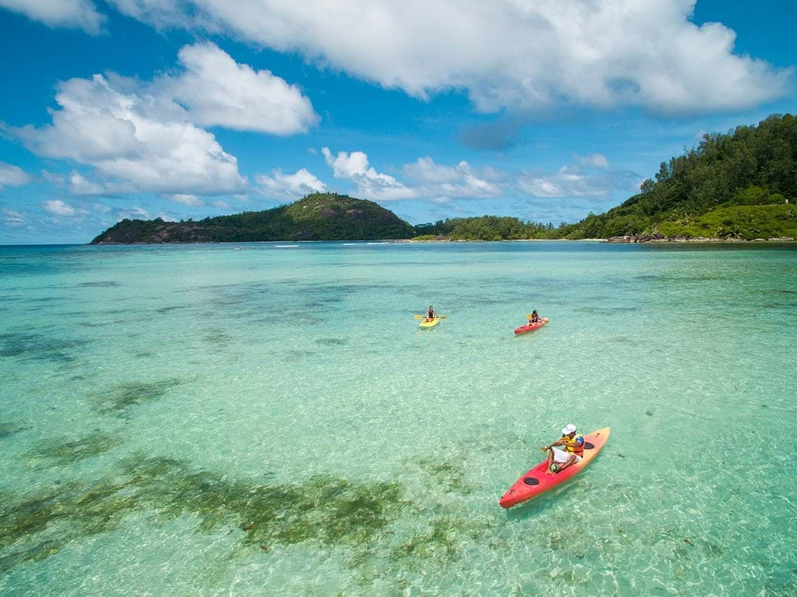 Kayaking in the Seychelles