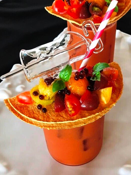 Gazpacho in a glass