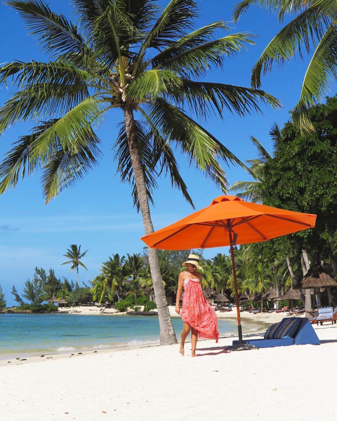 Constance Prince Maurice Mauritius beach palms shade
