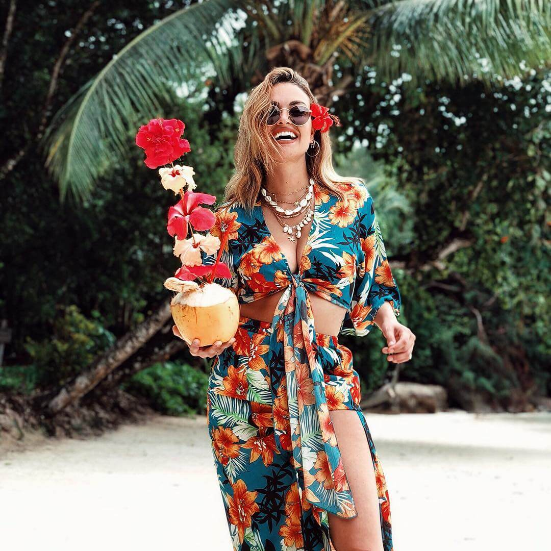 bold tropical print beach trends