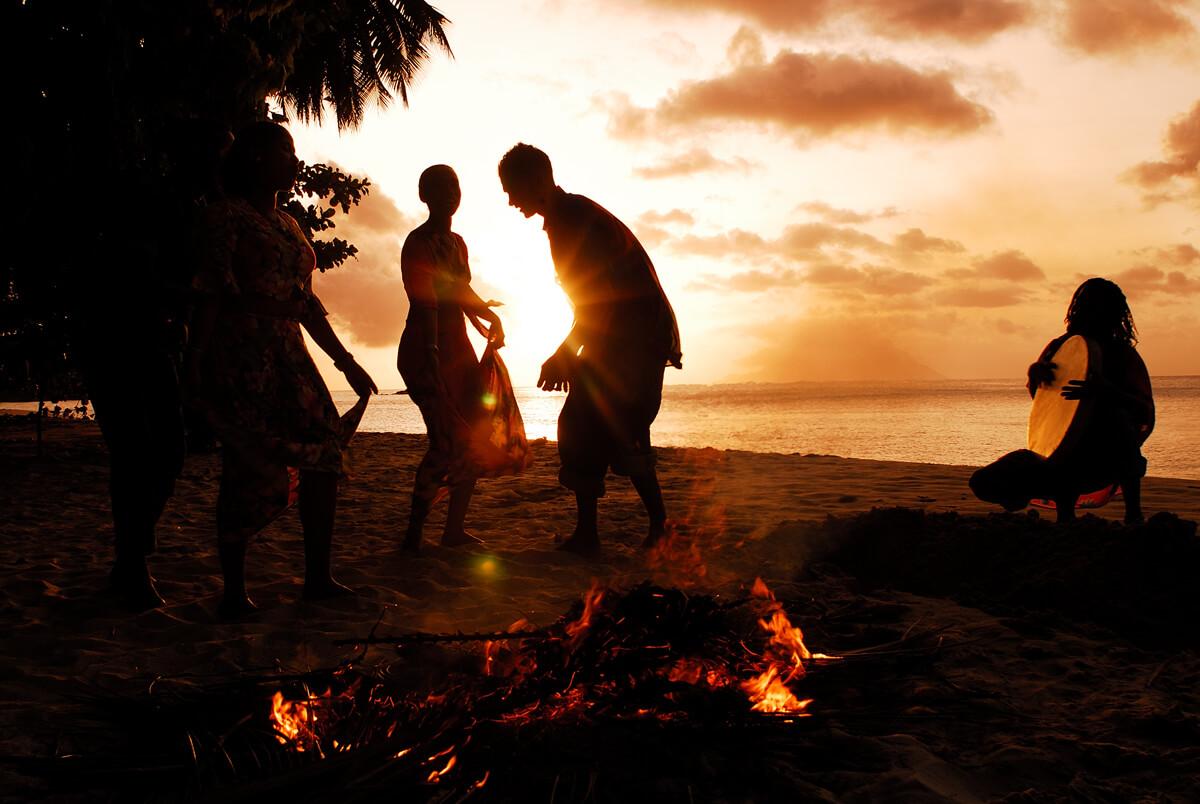 moutya seychelles island music bonfire
