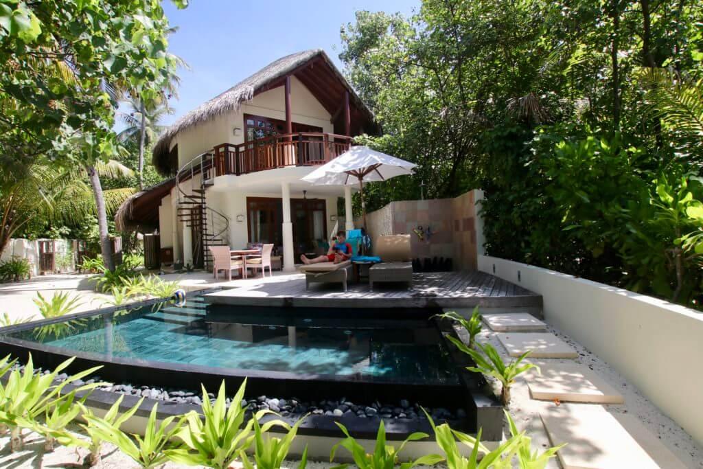 constance halaveli maldives beach villa pool